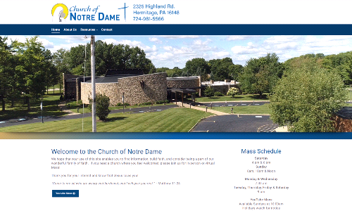 New Church of Notre Dame Website